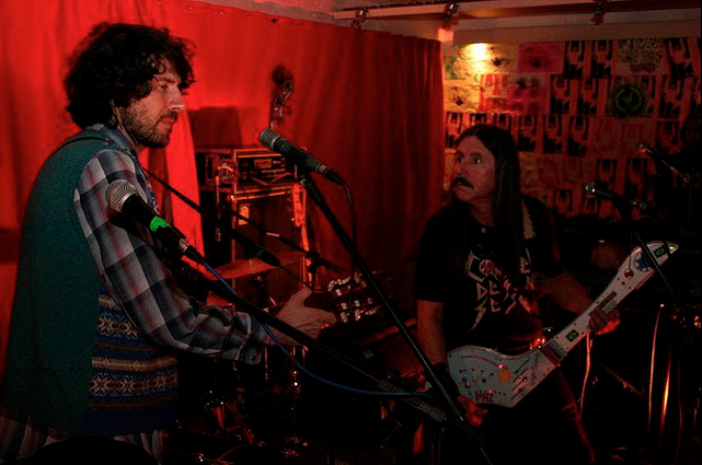 Gruff Rhys and Tony Da Gatorra at Trocabrahma in Sao Paulo